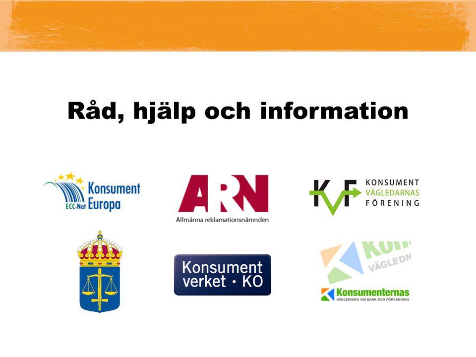 Råd, hjälp och information