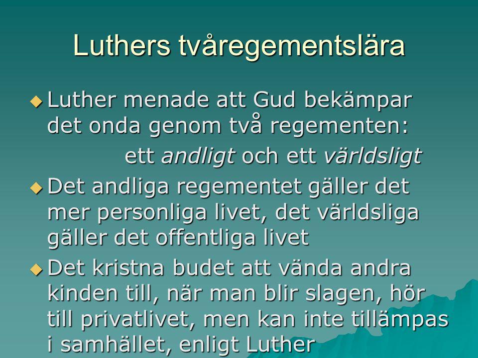 Luthers tvåregementslära