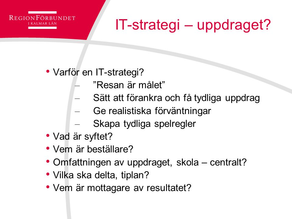 IT-strategi – uppdraget