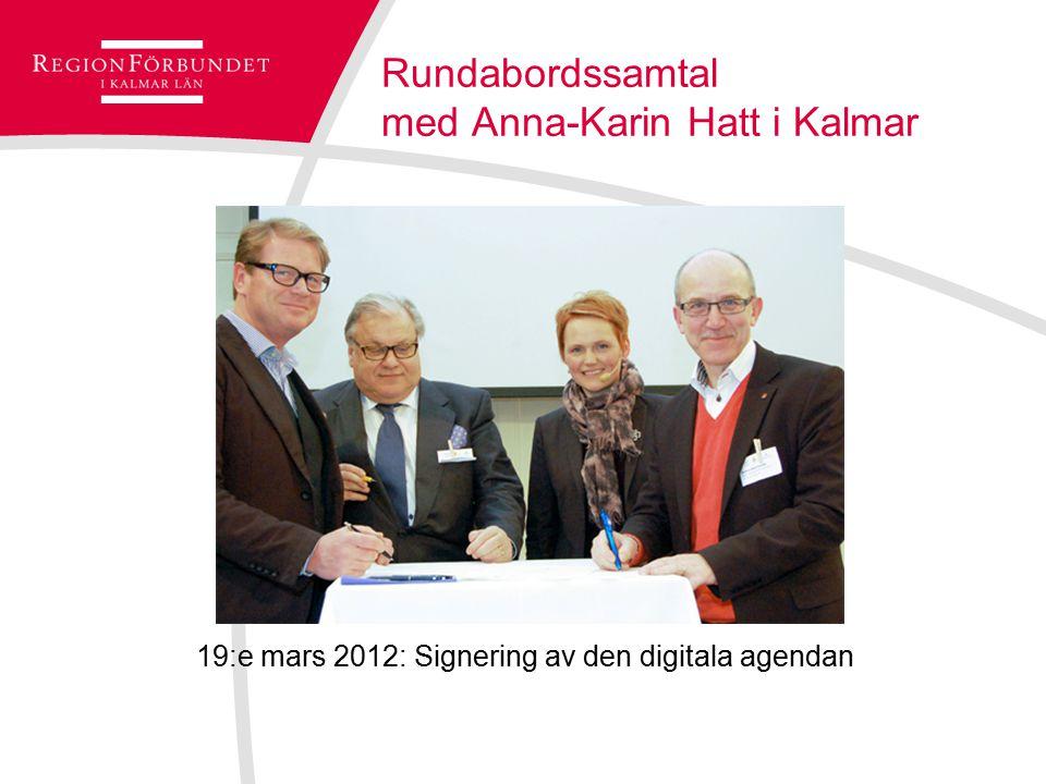 Rundabordssamtal med Anna-Karin Hatt i Kalmar