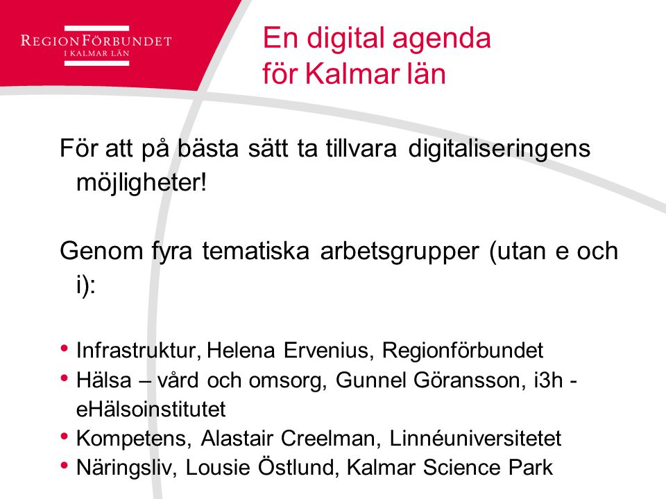 En digital agenda för Kalmar län