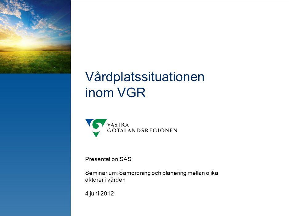 VGRs ~4 300 disponibla vårdplatser är huvudsakligen fördelade på 6 sjukhus i regionen