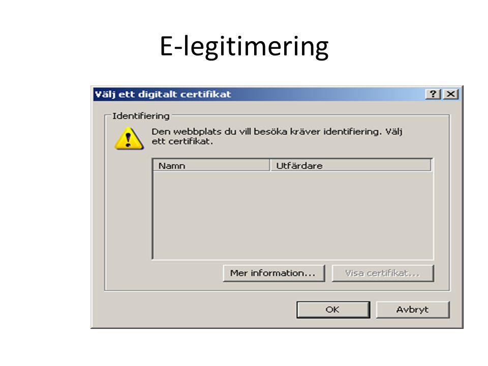 E-legitimering