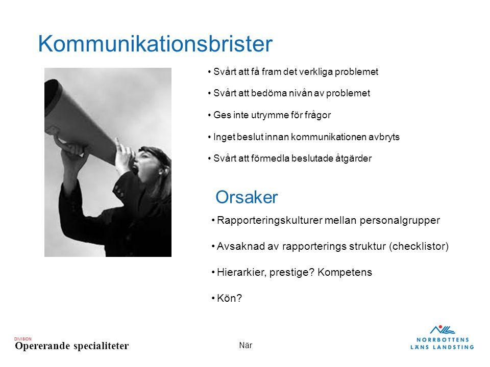 Kommunikationsbrister