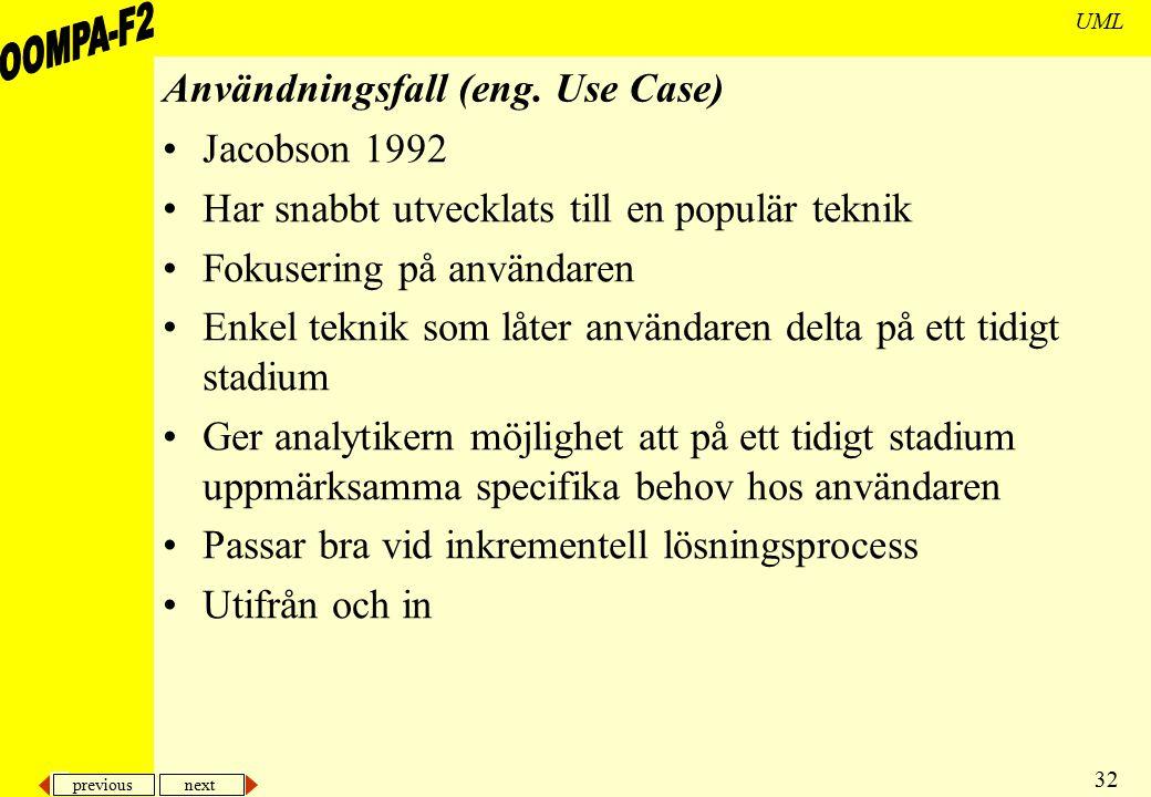 Användningsfall (eng. Use Case)