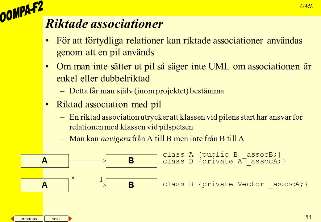 Riktade associationer
