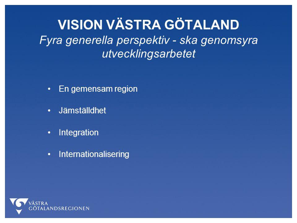 VISION VÄSTRA GÖTALAND Fyra generella perspektiv - ska genomsyra utvecklingsarbetet