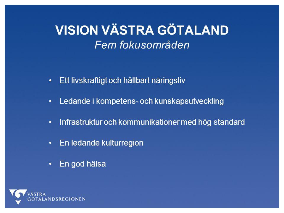 VISION VÄSTRA GÖTALAND Fem fokusområden