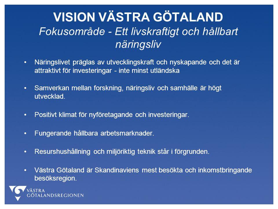 VISION VÄSTRA GÖTALAND Fokusområde - Ett livskraftigt och hållbart näringsliv