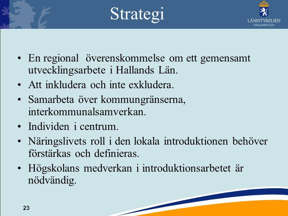 Strategi En regional överenskommelse om ett gemensamt utvecklingsarbete i Hallands Län. Att inkludera och inte exkludera.