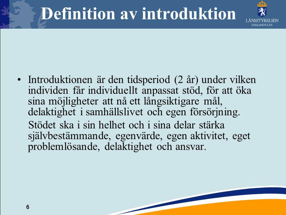 Definition av introduktion