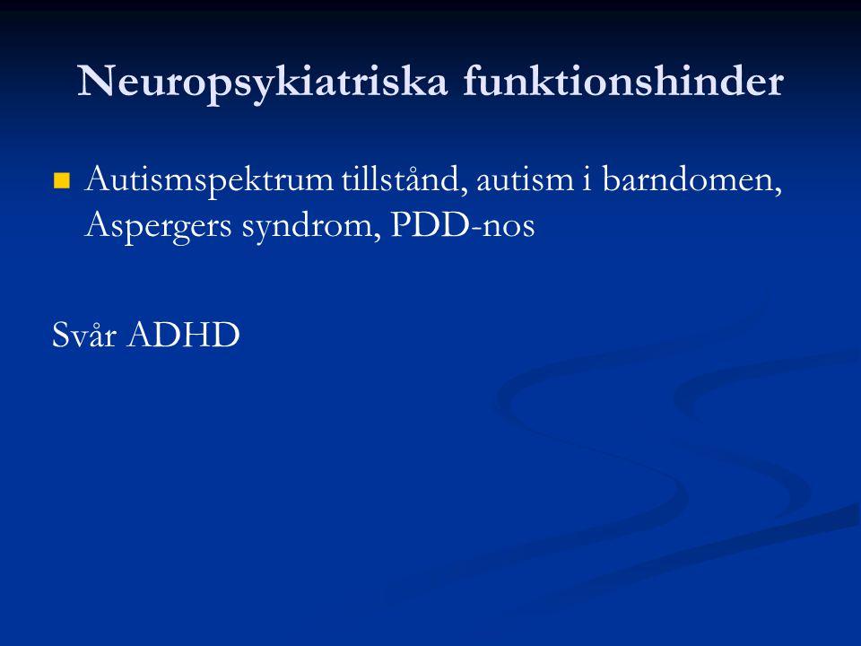 Neuropsykiatriska funktionshinder