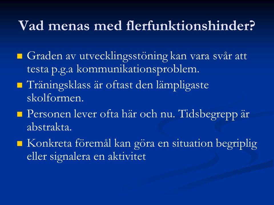 Vad menas med flerfunktionshinder