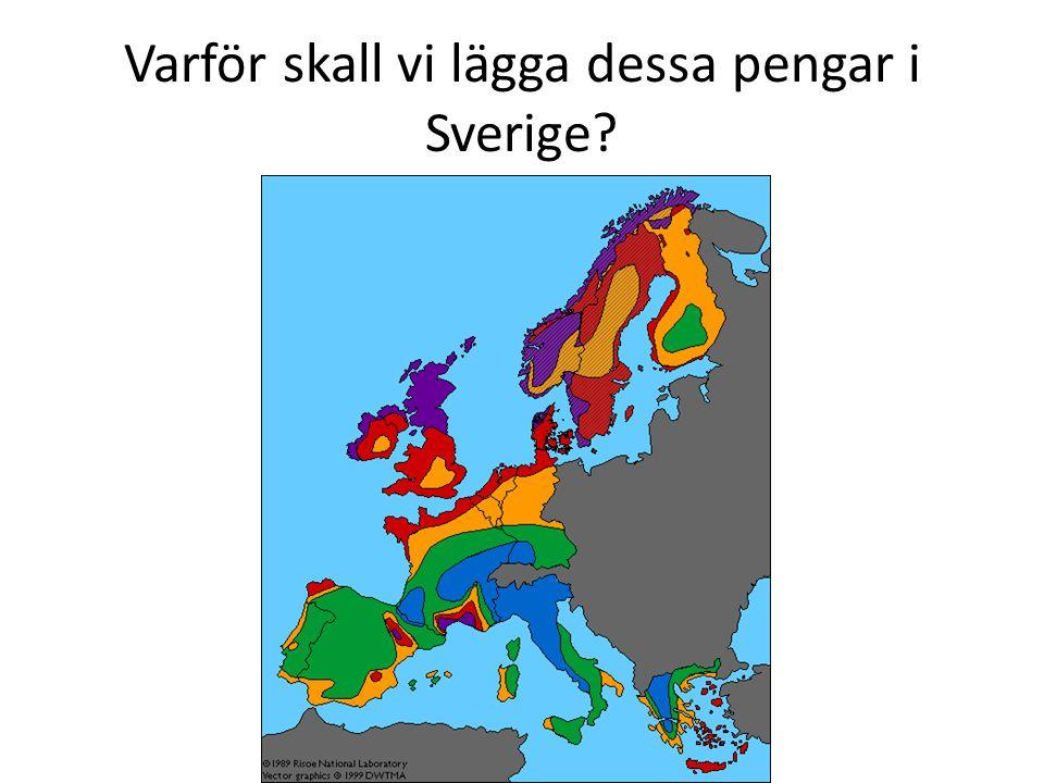 Varför skall vi lägga dessa pengar i Sverige