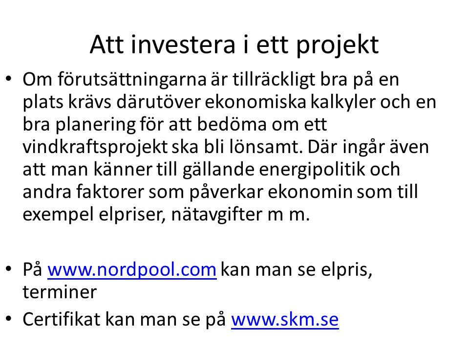 Att investera i ett projekt