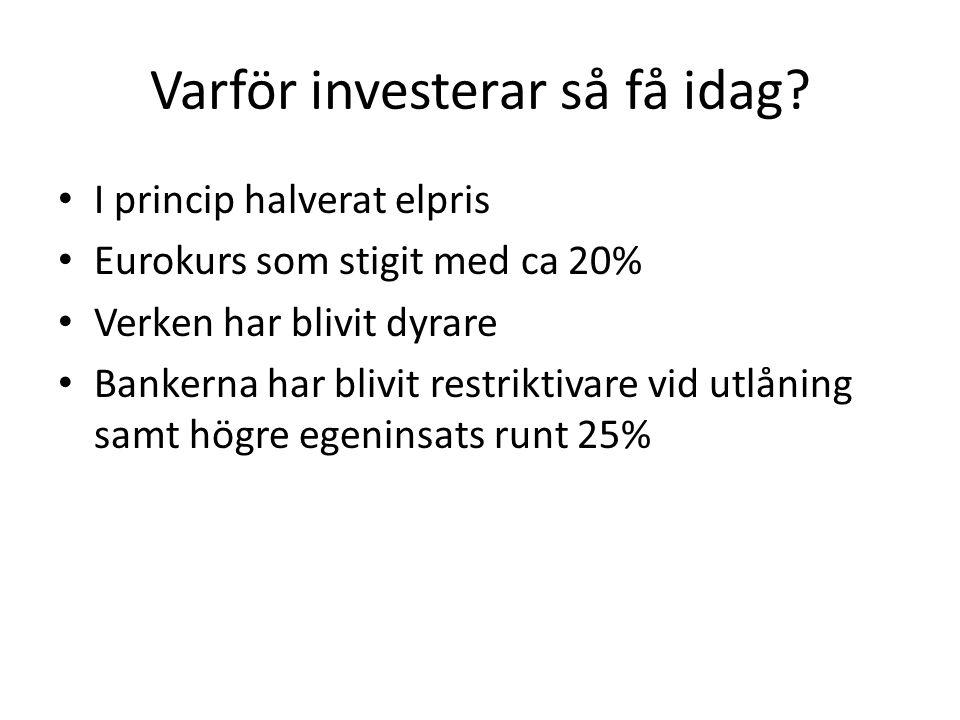 Varför investerar så få idag