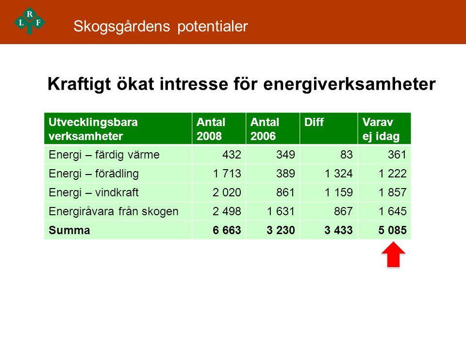 Kraftigt ökat intresse för energiverksamheter