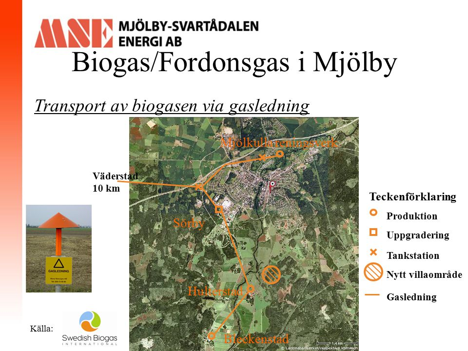 Biogas/Fordonsgas i Mjölby