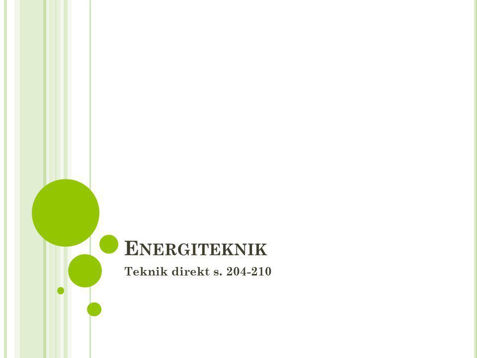 Energiteknik Teknik direkt s. 204-210