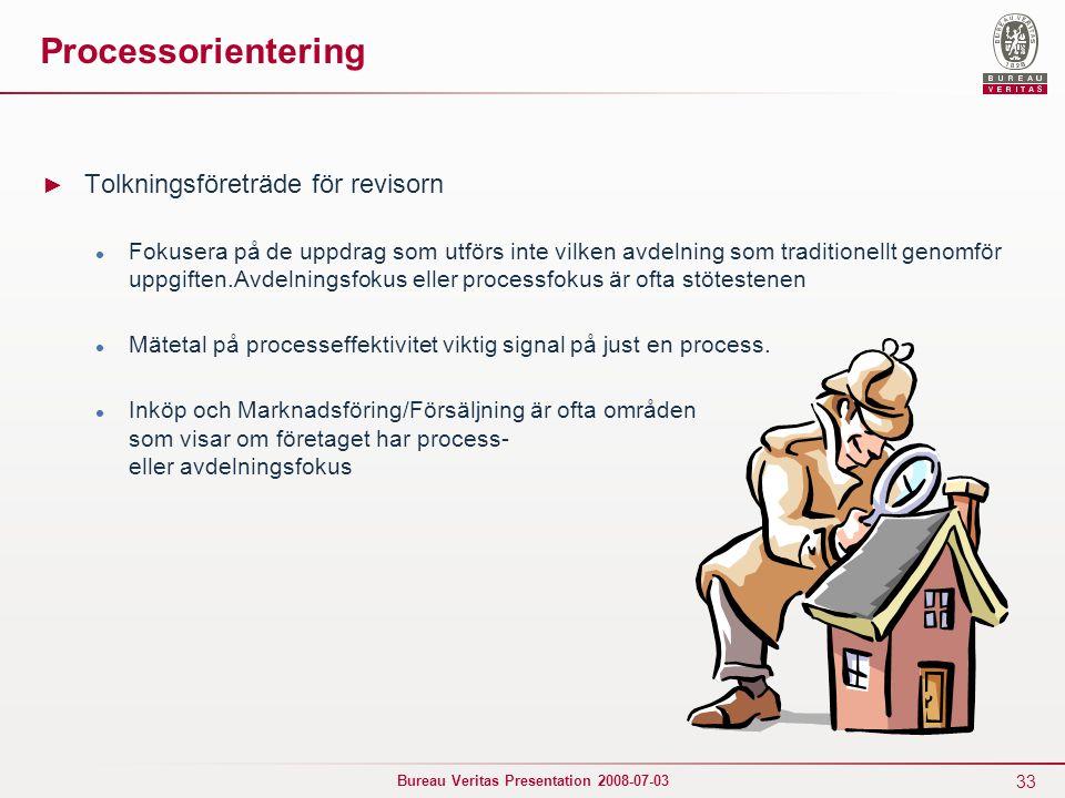 Processorientering Tolkningsföreträde för revisorn