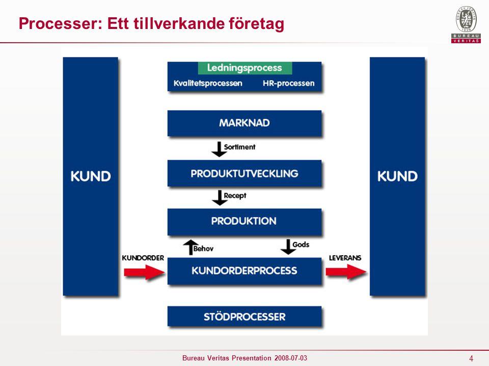 Processer: Ett tillverkande företag