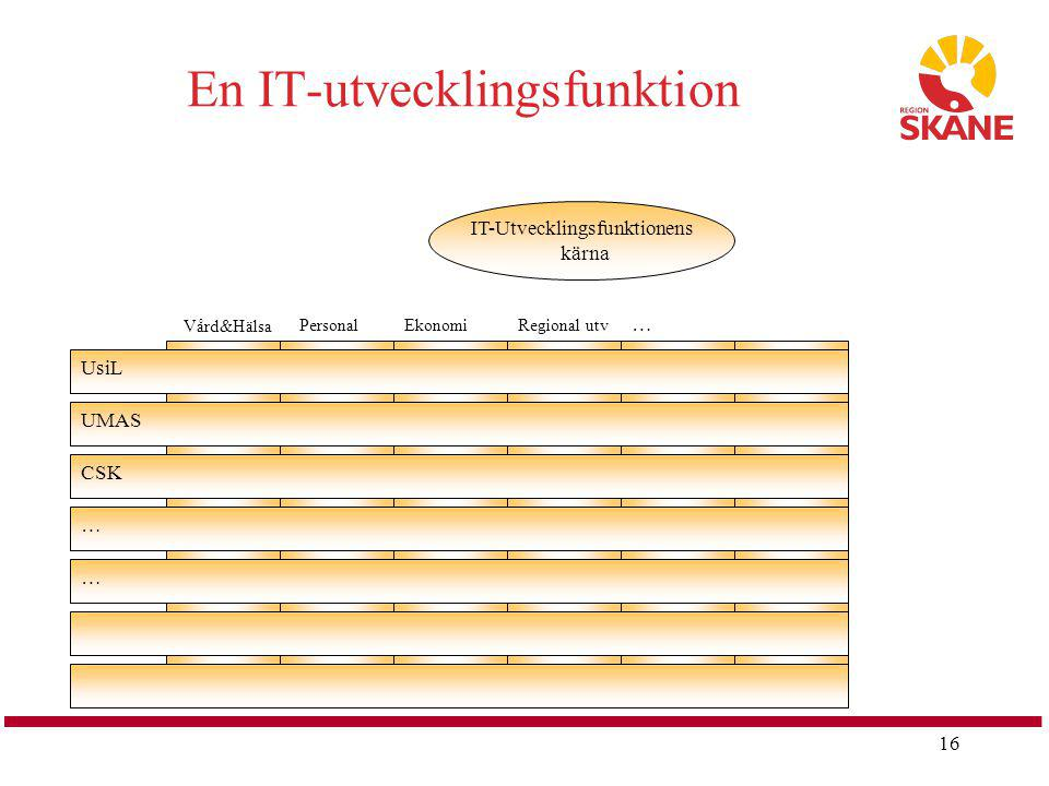 En IT-utvecklingsfunktion