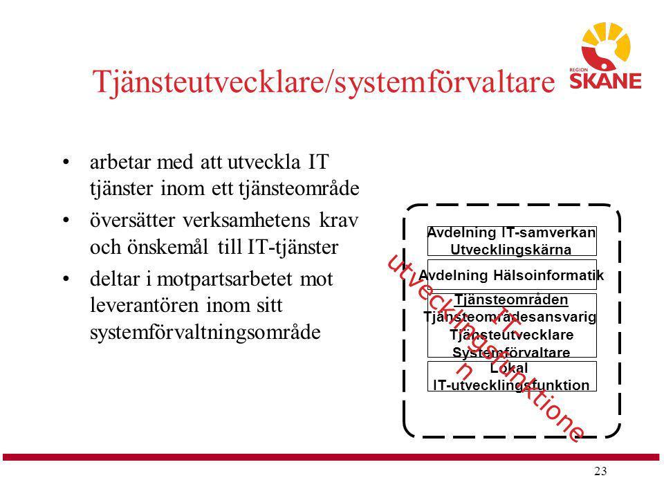 Tjänsteutvecklare/systemförvaltare