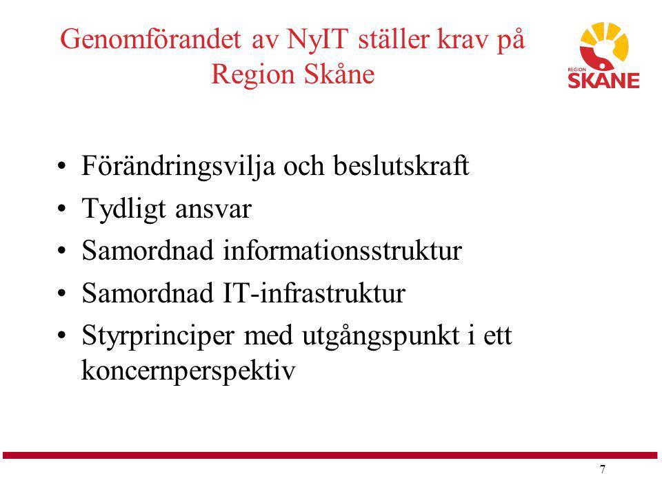Genomförandet av NyIT ställer krav på Region Skåne