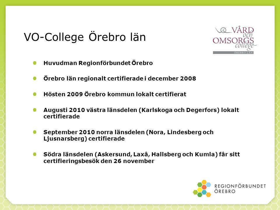 VO-College Örebro län Huvudman Regionförbundet Örebro
