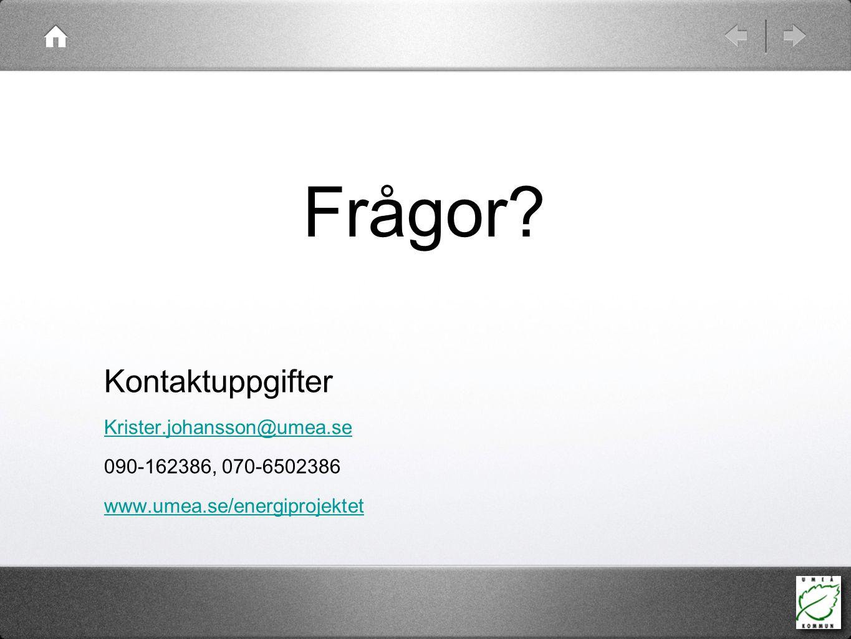 Frågor Kontaktuppgifter Krister.johansson@umea.se