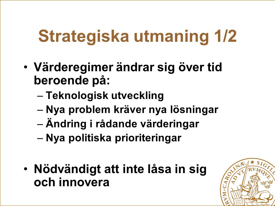 Strategiska utmaning 1/2