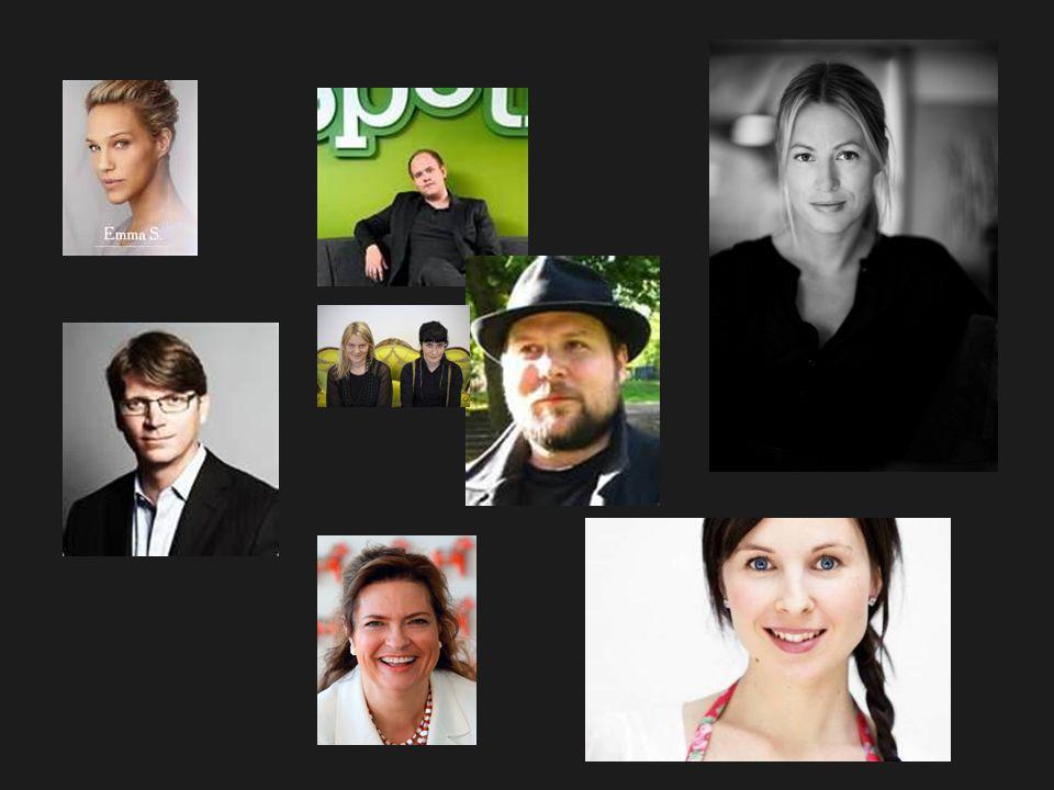 Emma Wiklund, Daniel Ek, Filippa K, Niklas Zennström, Markus Persson (Mindcraft/Mojang Ab), Lina Gebäck, Signhild Arnegård Hansen,