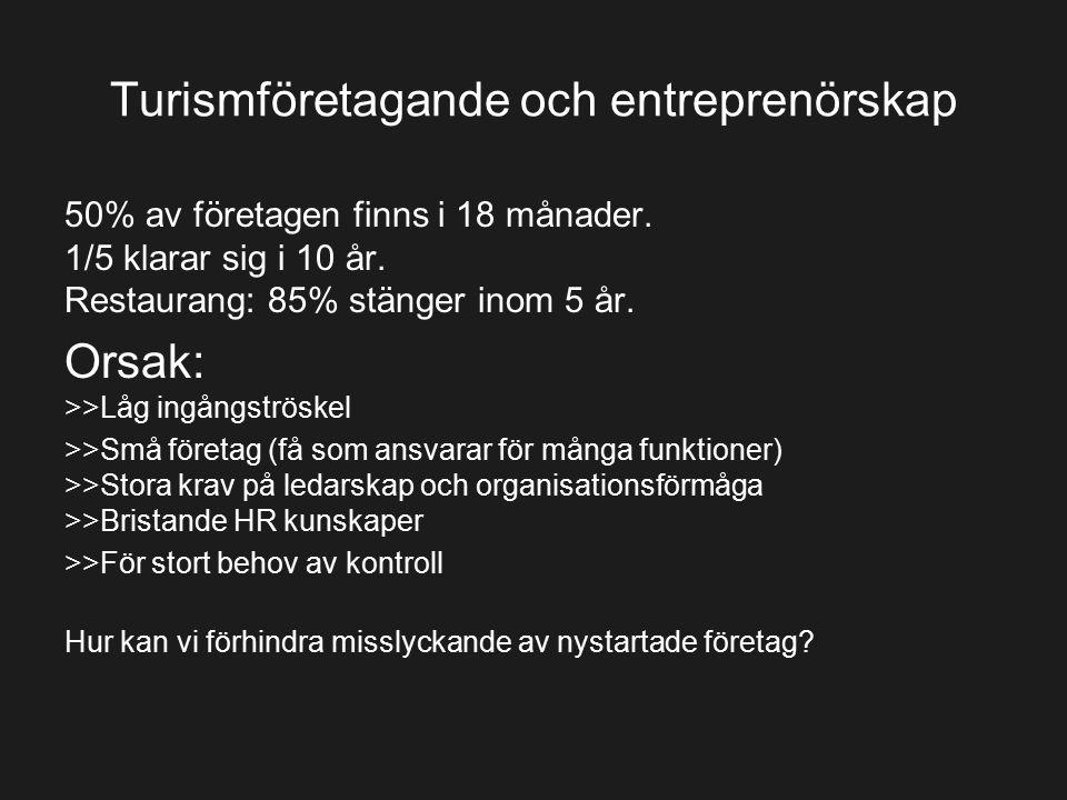 Turismföretagande och entreprenörskap