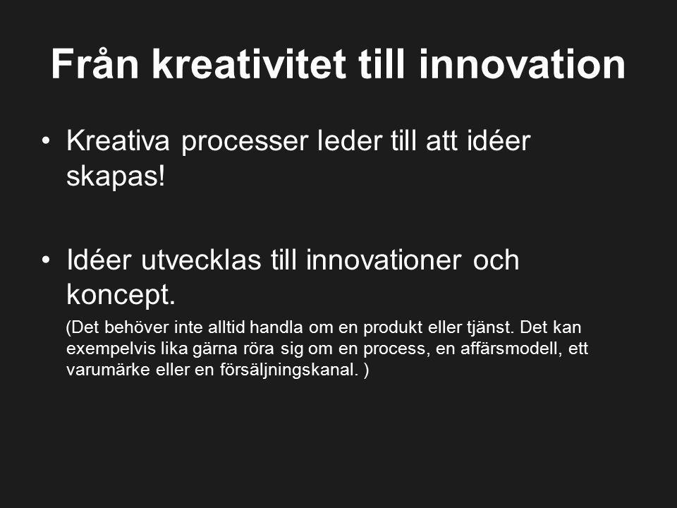 Från kreativitet till innovation