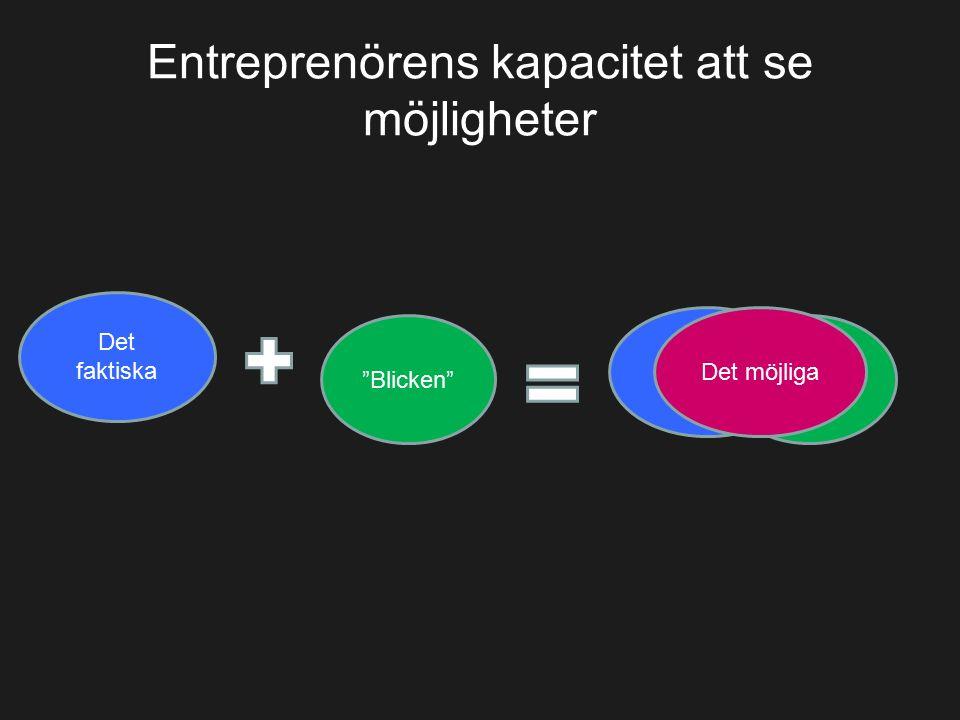 Entreprenörens kapacitet att se möjligheter