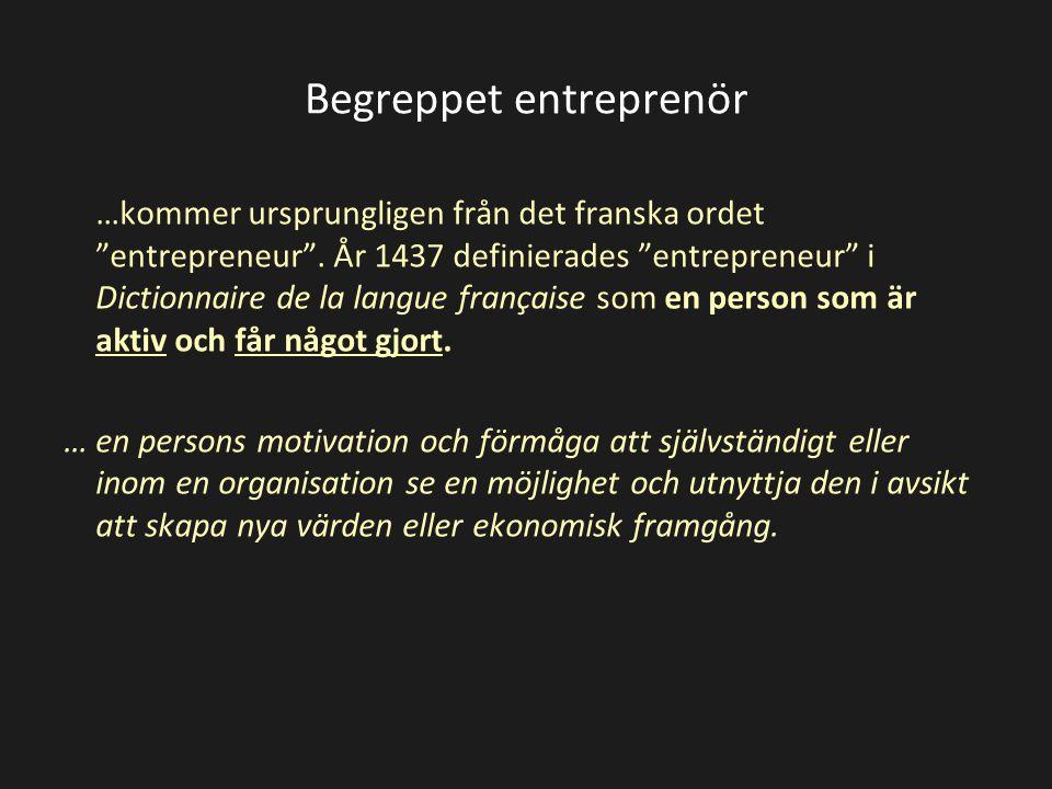 Begreppet entreprenör