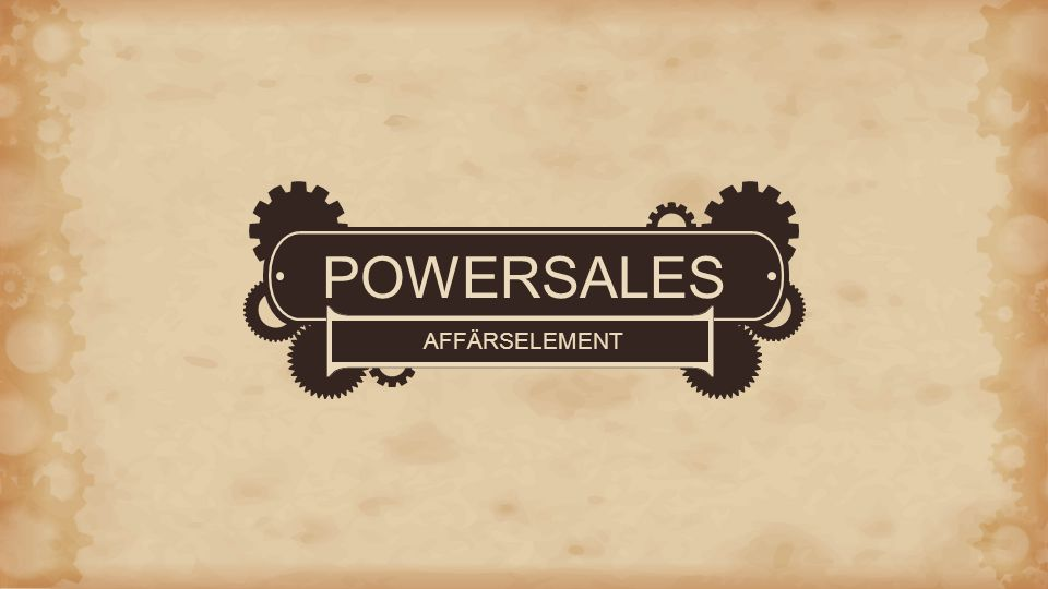POWERSALES AFFÄRSELEMENT
