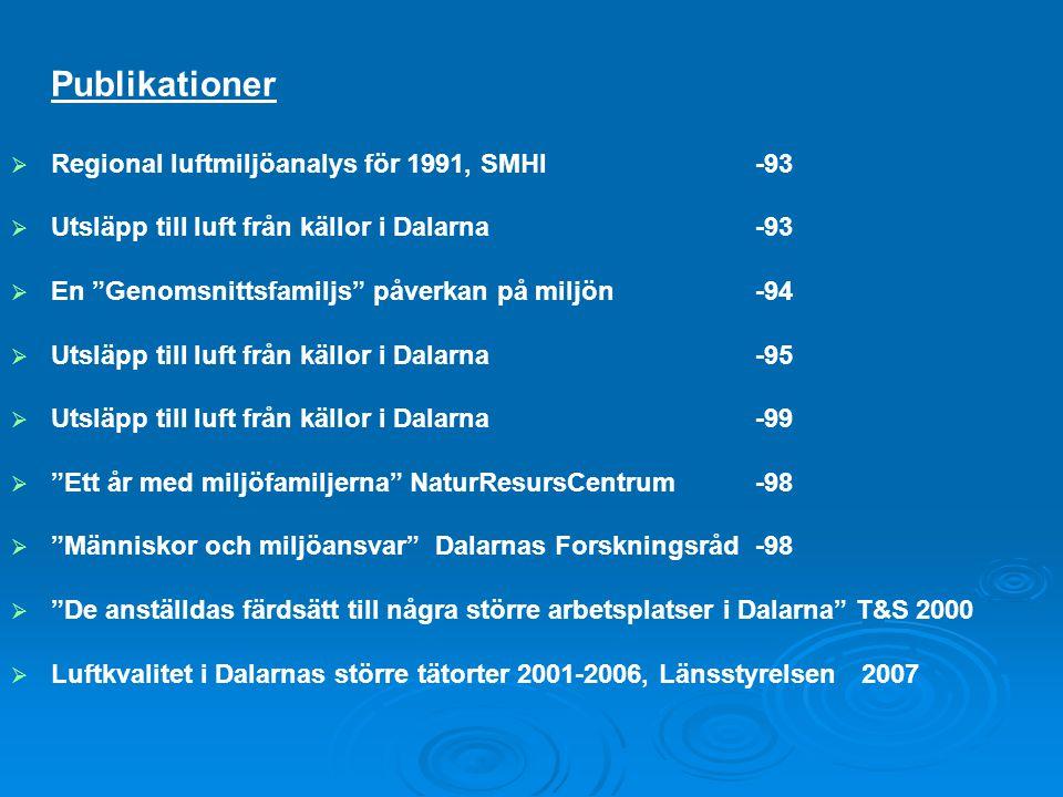 Publikationer Regional luftmiljöanalys för 1991, SMHI -93
