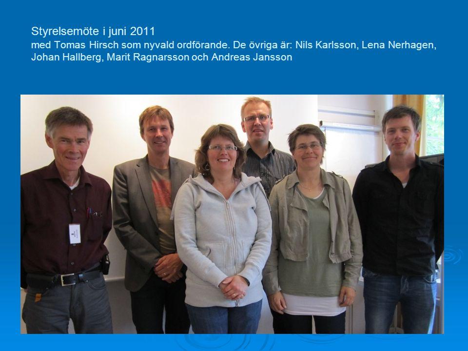 Styrelsemöte i juni 2011 med Tomas Hirsch som nyvald ordförande