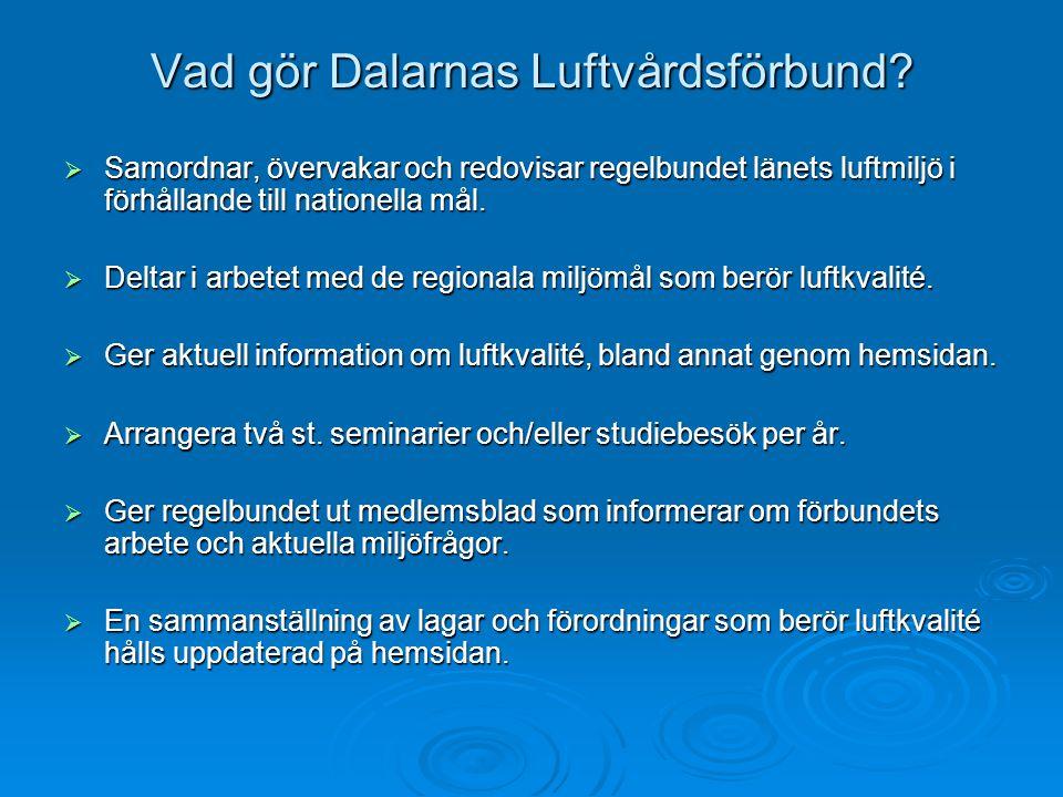 Vad gör Dalarnas Luftvårdsförbund