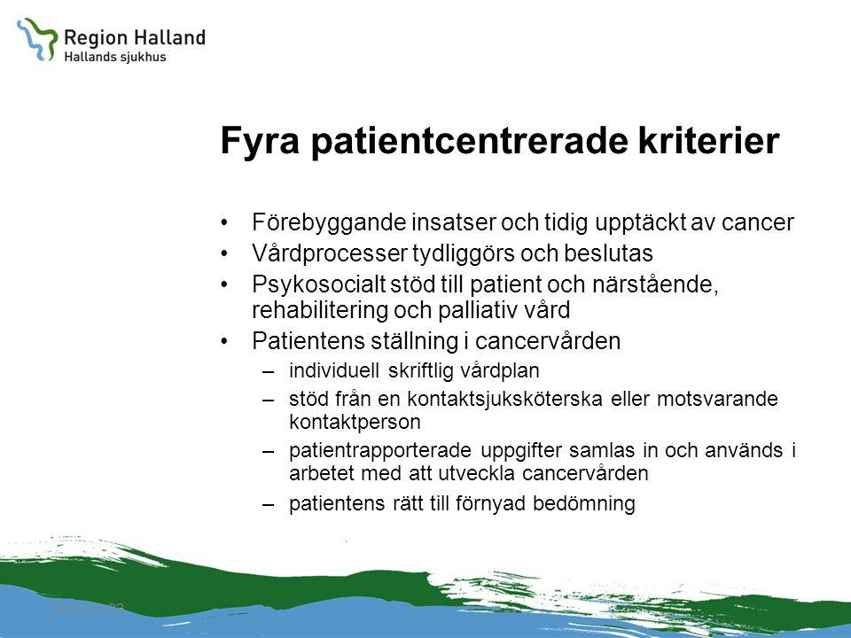 Fyra patientcentrerade kriterier