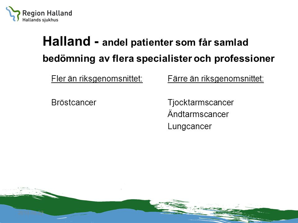 Halland - andel patienter som får samlad bedömning av flera specialister och professioner
