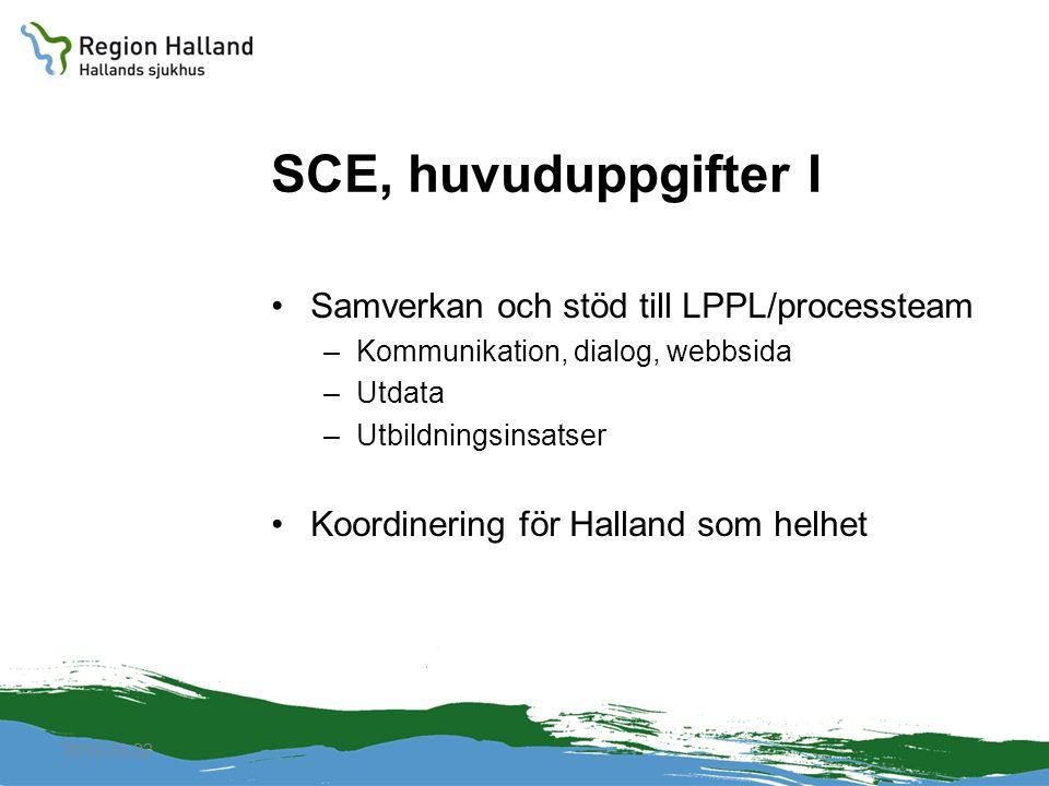 SCE, huvuduppgifter I Samverkan och stöd till LPPL/processteam