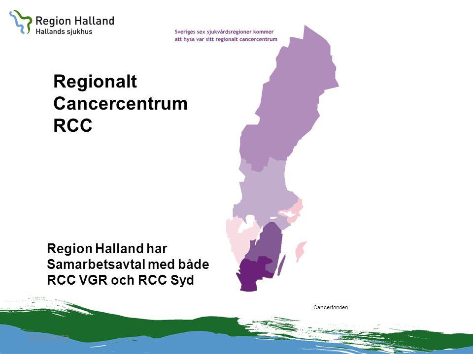 Regionalt Cancercentrum RCC Region Halland har Samarbetsavtal med både