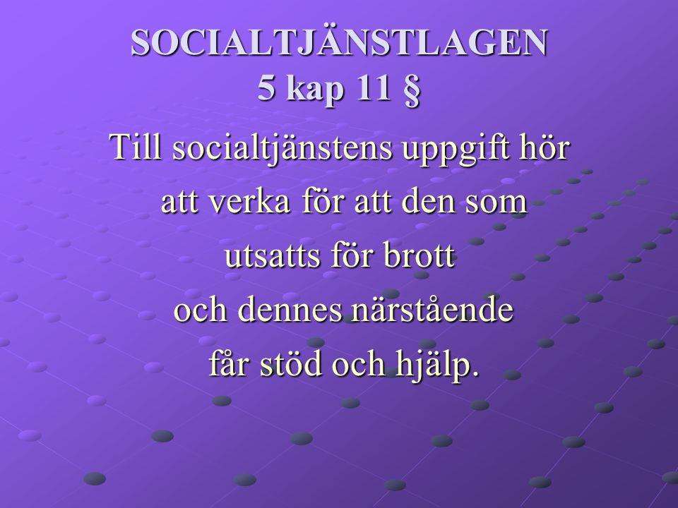SOCIALTJÄNSTLAGEN 5 kap 11 §