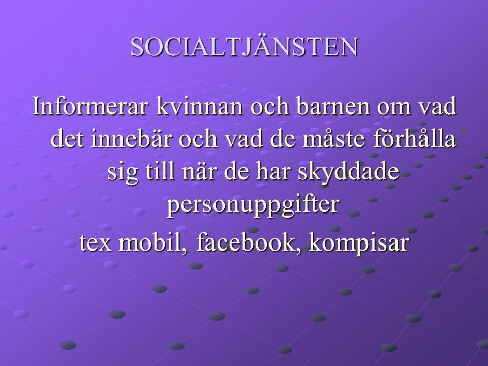 tex mobil, facebook, kompisar