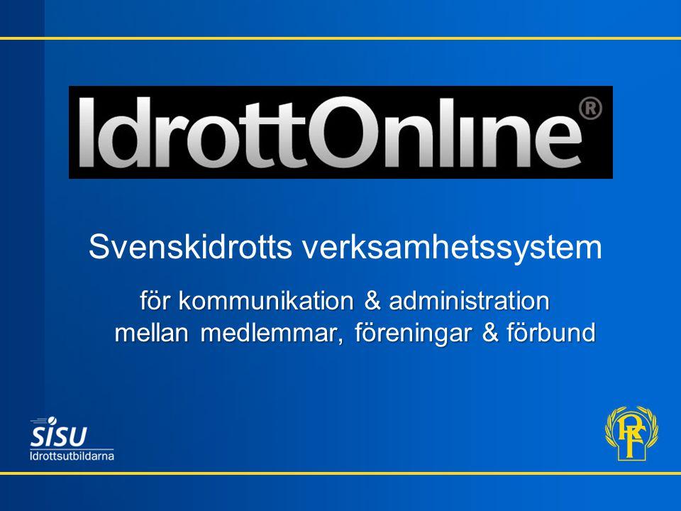 Svenskidrotts verksamhetssystem