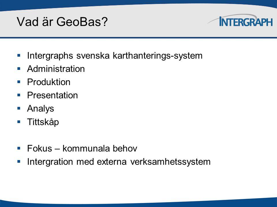 Vad är GeoBas Intergraphs svenska karthanterings-system