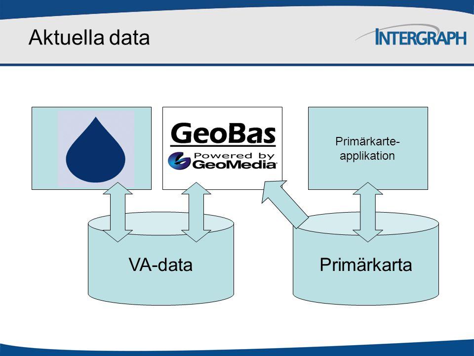 Aktuella data Primärkarte- applikation VA-data Primärkarta
