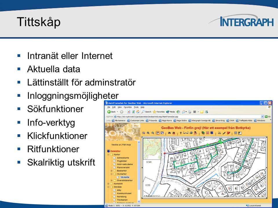 Tittskåp Intranät eller Internet Aktuella data